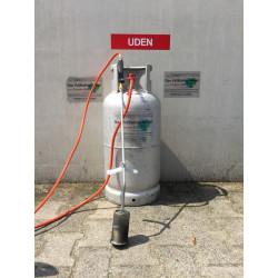 14 Kg Vulling Rijngas MERTZ fles Damp afname voor bijv brander etc